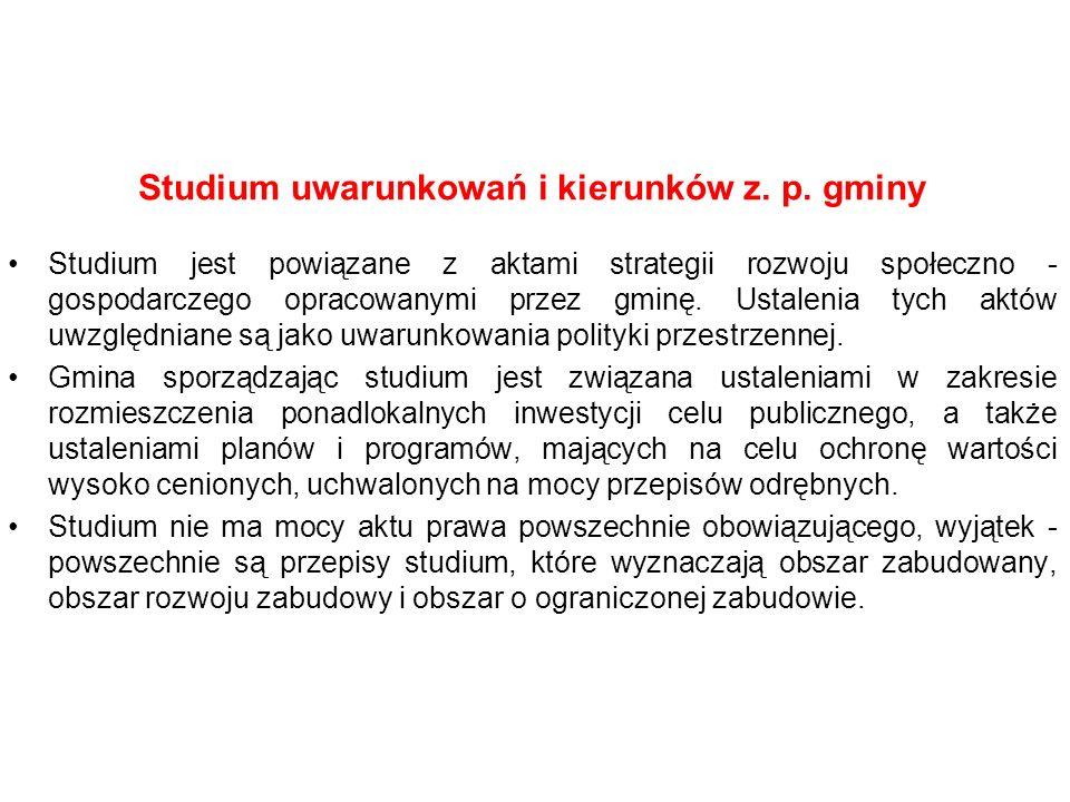 Studium uwarunkowań i kierunków z. p. gminy Studium jest powiązane z aktami strategii rozwoju społeczno - gospodarczego opracowanymi przez gminę. Usta