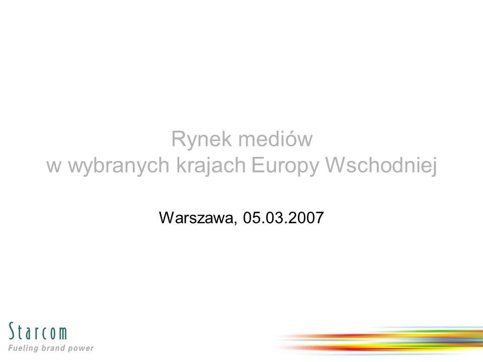 Rynek mediów w wybranych krajach Europy Wschodniej Warszawa, 05.03.2007