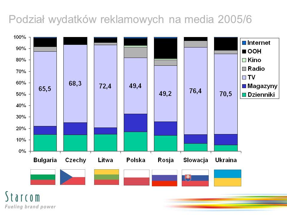 Podział wydatków reklamowych na media 2005/6