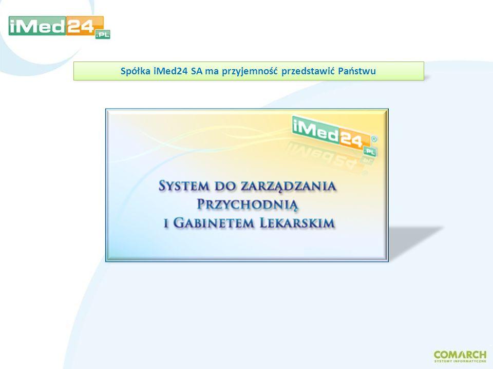 Spółka iMed24 SA ma przyjemność przedstawić Państwu
