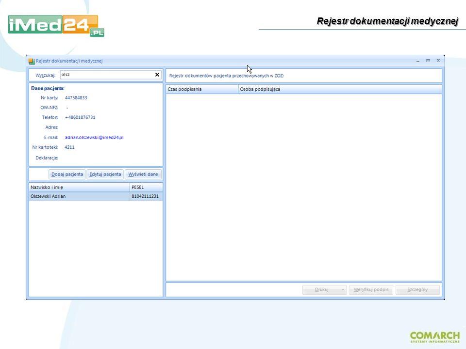 Rejestr dokumentacji medycznej