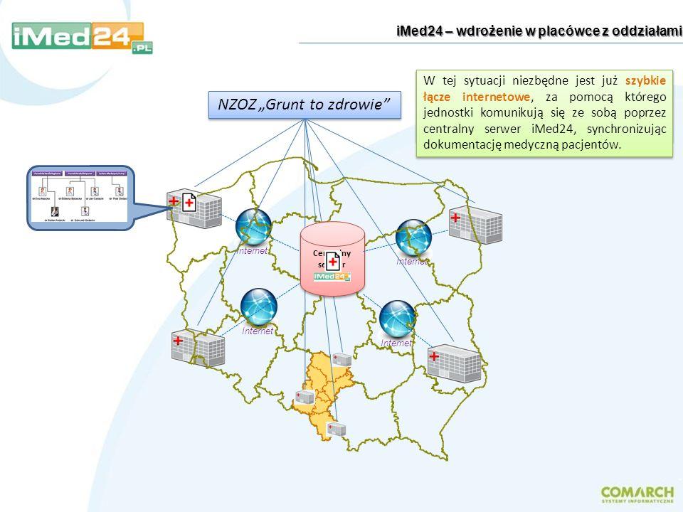 Internet iMed24 – wdrożenie w placówce z oddziałami Jednakże zalety systemu iMed24 ujawniają się w pełnym zakresie w sytuacji, gdy placówka medyczna p