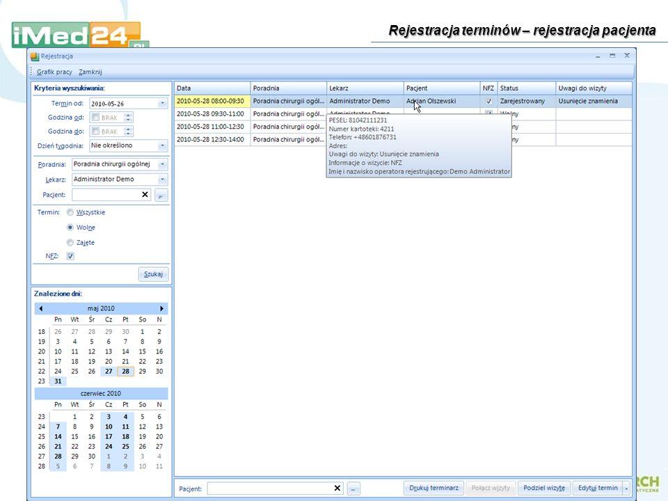 Funkcje administracyjne – ustawienia modułów systemu