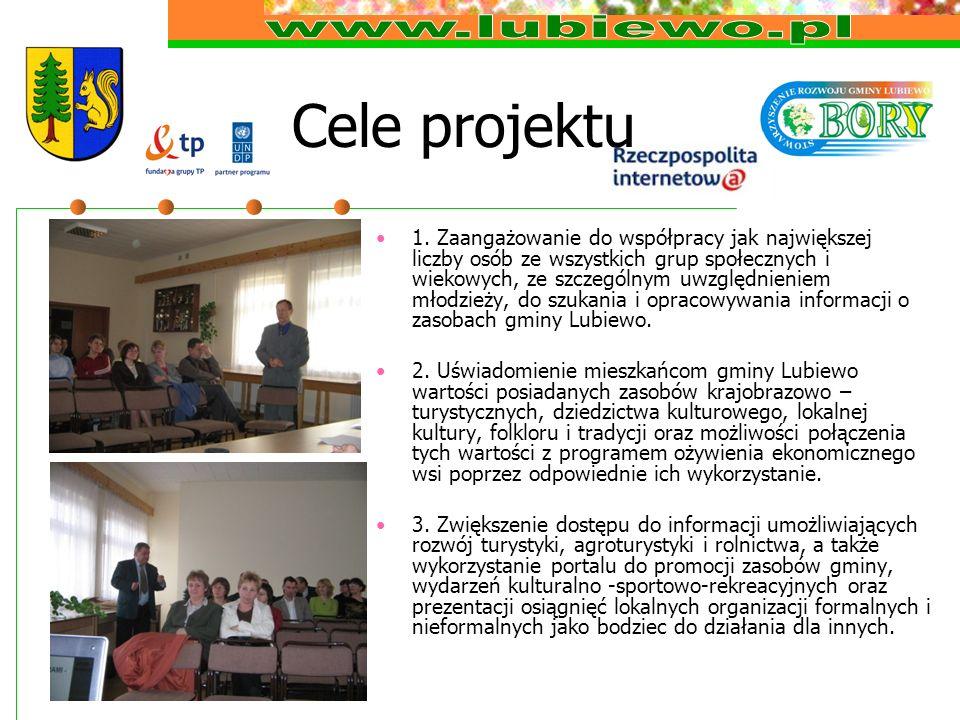 Cele projektu 1. Zaangażowanie do współpracy jak największej liczby osób ze wszystkich grup społecznych i wiekowych, ze szczególnym uwzględnieniem mło