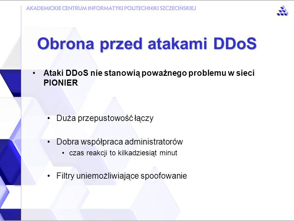 Nie ma skutecznej obrony przeciwko atakom Distributed Denial of Service Obrona przed atakami DDoS