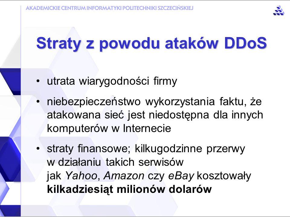 zdobywanie kontroli nad komputerami za pomocą wyspecjalizowanych narzędzi bardzo duża szybkość tworzenia sieci DDoS nie jest wymagana żadna fachowa wiedza geograficzne położenie komputerów ma znaczenie Tworzenie sieci DDoS