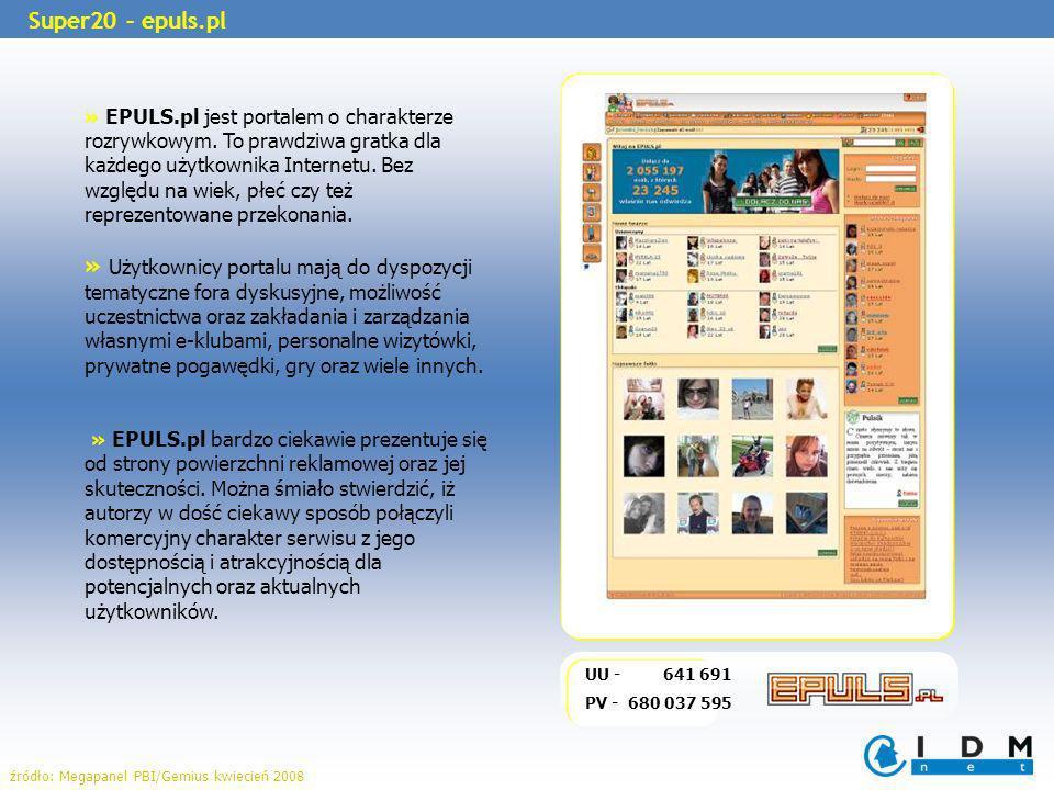 » EPULS.pl jest portalem o charakterze rozrywkowym. To prawdziwa gratka dla każdego użytkownika Internetu. Bez względu na wiek, płeć czy też reprezent