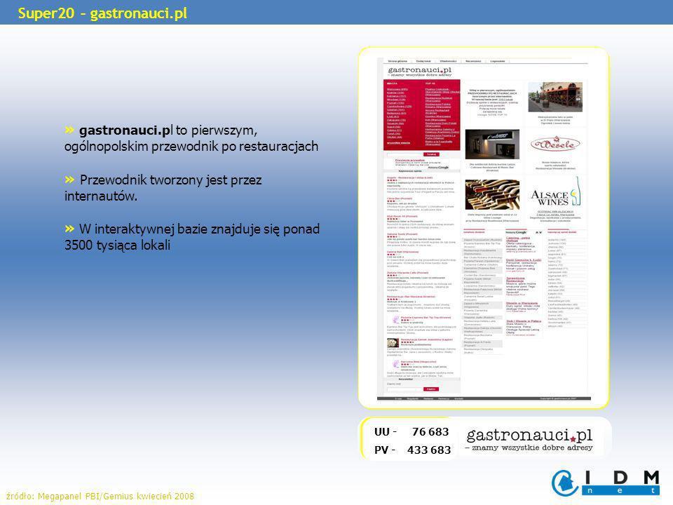 » gastronauci.pl to pierwszym, ogólnopolskim przewodnik po restauracjach » Przewodnik tworzony jest przez internautów.