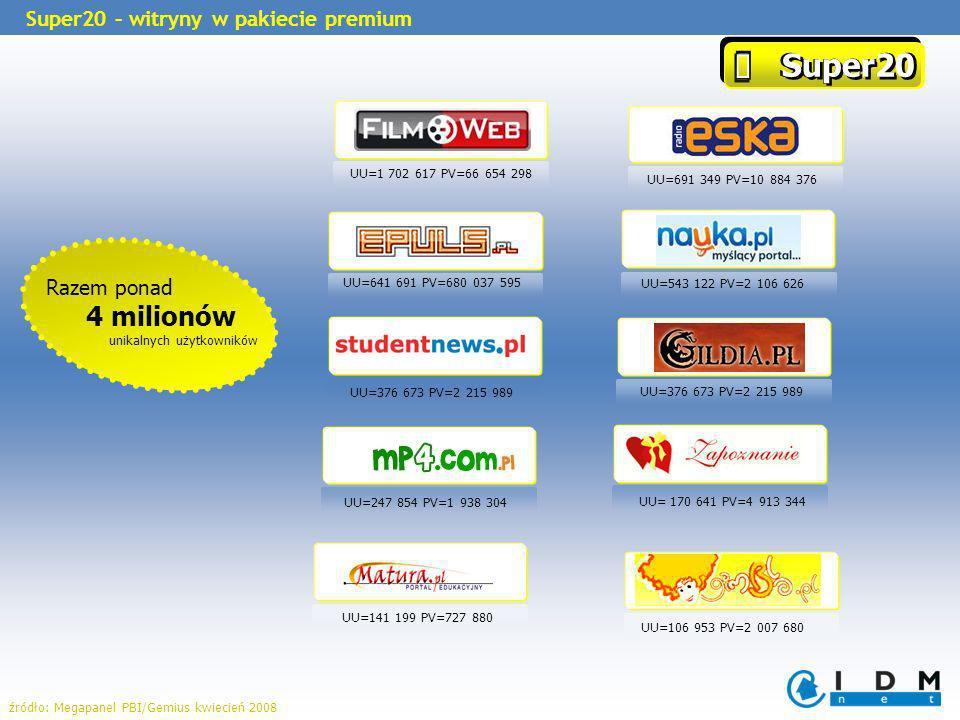 UU - 106 953 PV - 2 007 680 Super20 – gimbla.pl » Serwis Gimbla.pl powstał 2003 roku jako forum dyskusyjne, którego użytkowniczkami były panny młode.