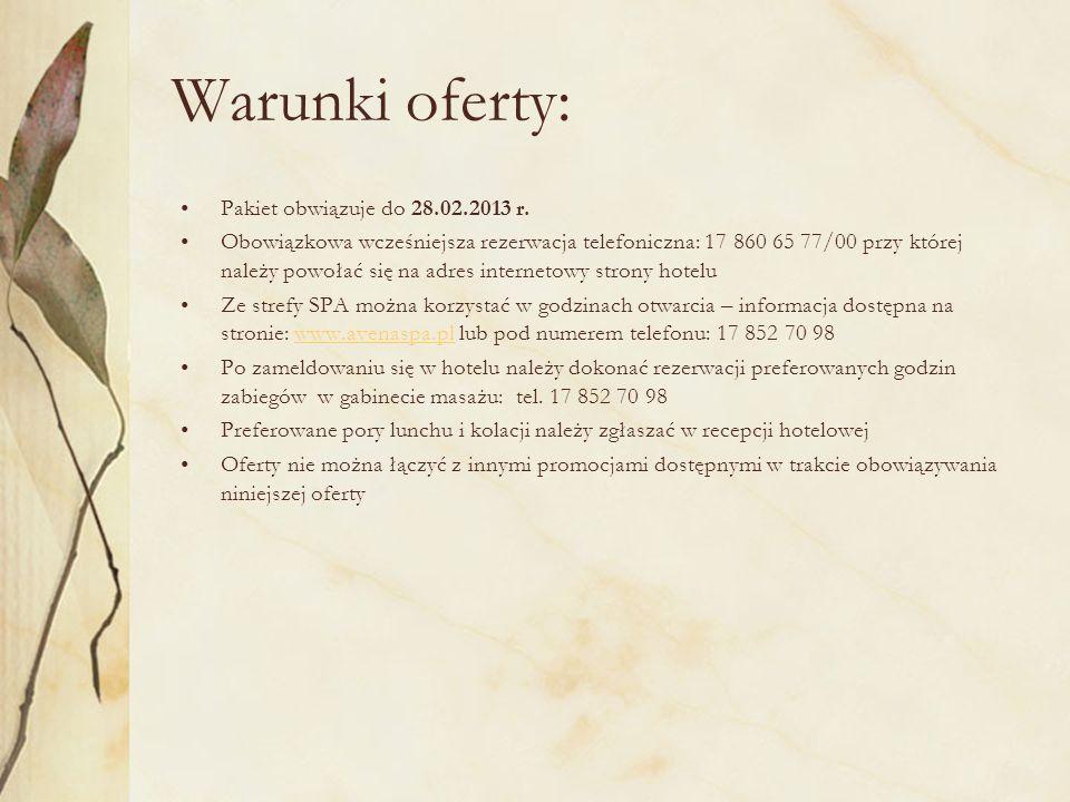 ROMANTYCZNY DWUDNIOWY POBYT W ZASIĘGU TWOJEJ RĘKI ! www.hoteleprezydenckie.pl