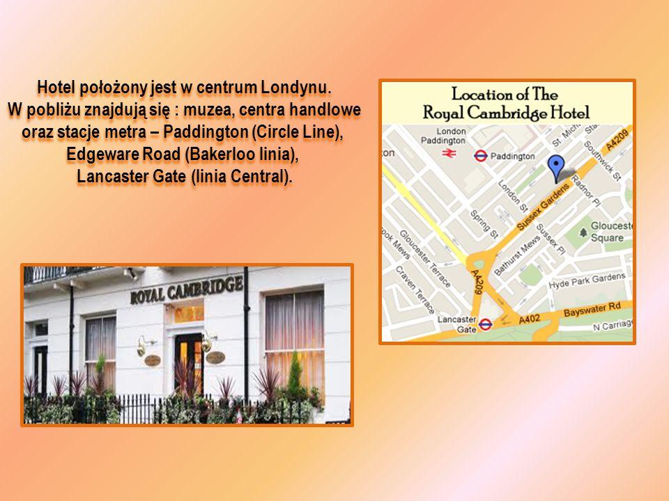 Hotel położony jest w centrum Londynu. W pobliżu znajdują się : muzea, centra handlowe oraz stacje metra – Paddington (Circle Line), Edgeware Road (Ba