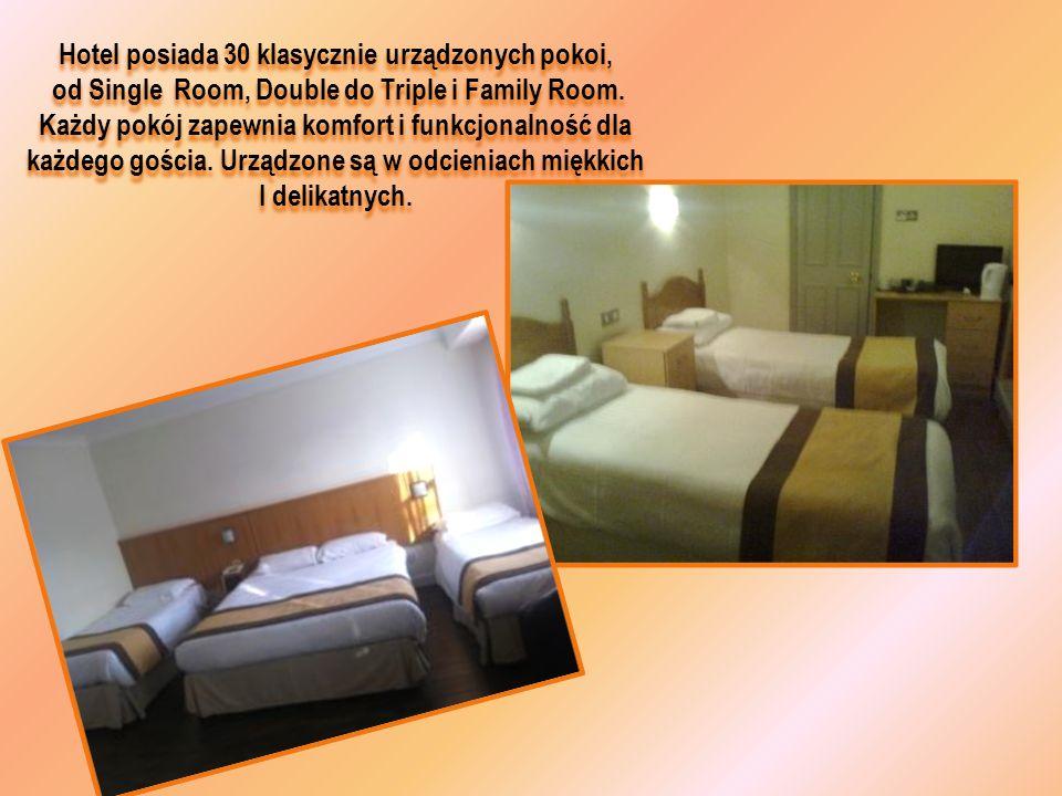 Hotel posiada 30 klasycznie urządzonych pokoi, od Single Room, Double do Triple i Family Room. Każdy pokój zapewnia komfort i funkcjonalność dla każde