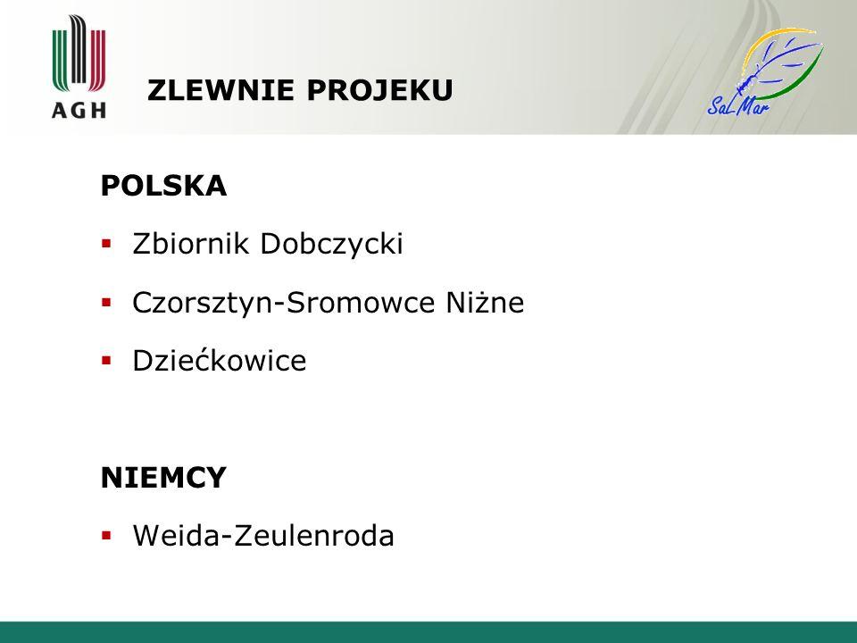 ZLEWNIE PROJEKU POLSKA Zbiornik Dobczycki Czorsztyn-Sromowce Niżne Dziećkowice NIEMCY Weida-Zeulenroda