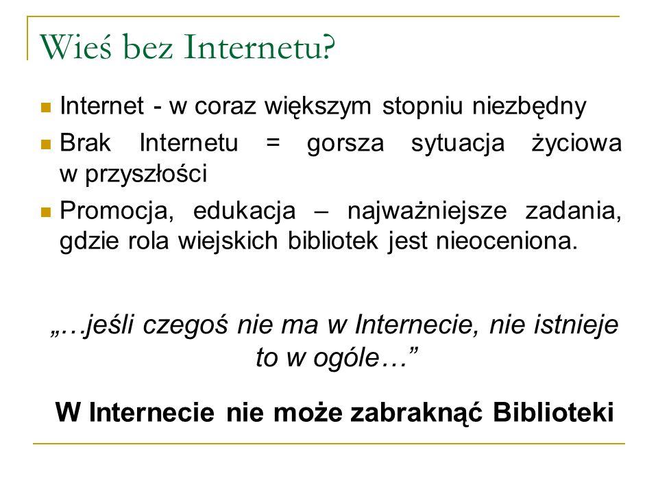 Wieś bez Internetu.