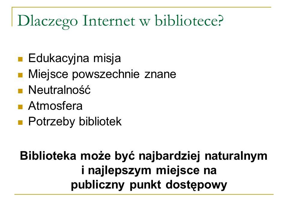 Dlaczego Internet w bibliotece.