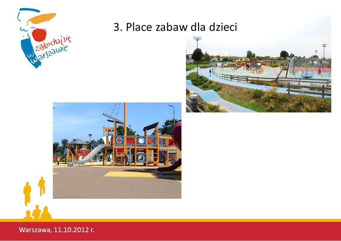 Warszawa, 11.10.2012 r. 3. Place zabaw dla dzieci