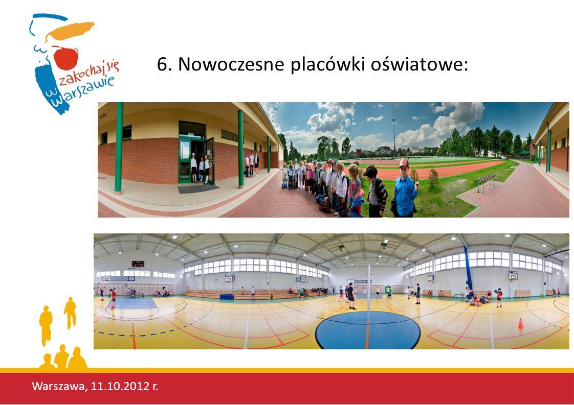 Warszawa, 11.10.2012 r. 6. Nowoczesne placówki oświatowe: