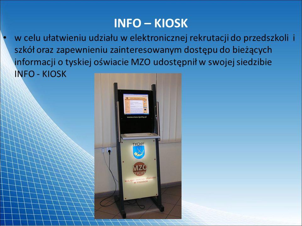 INFO – KIOSK w celu ułatwieniu udziału w elektronicznej rekrutacji do przedszkoli i szkół oraz zapewnieniu zainteresowanym dostępu do bieżących inform