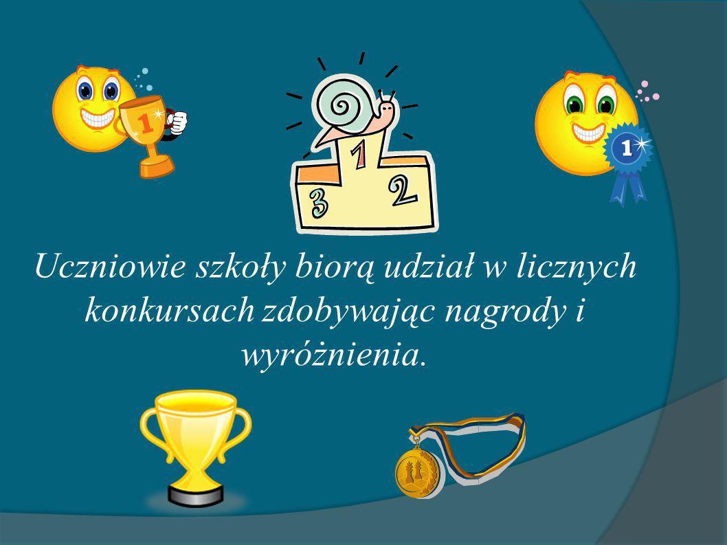 Uczniowie szkoły biorą udział w licznych konkursach zdobywając nagrody i wyróżnienia.