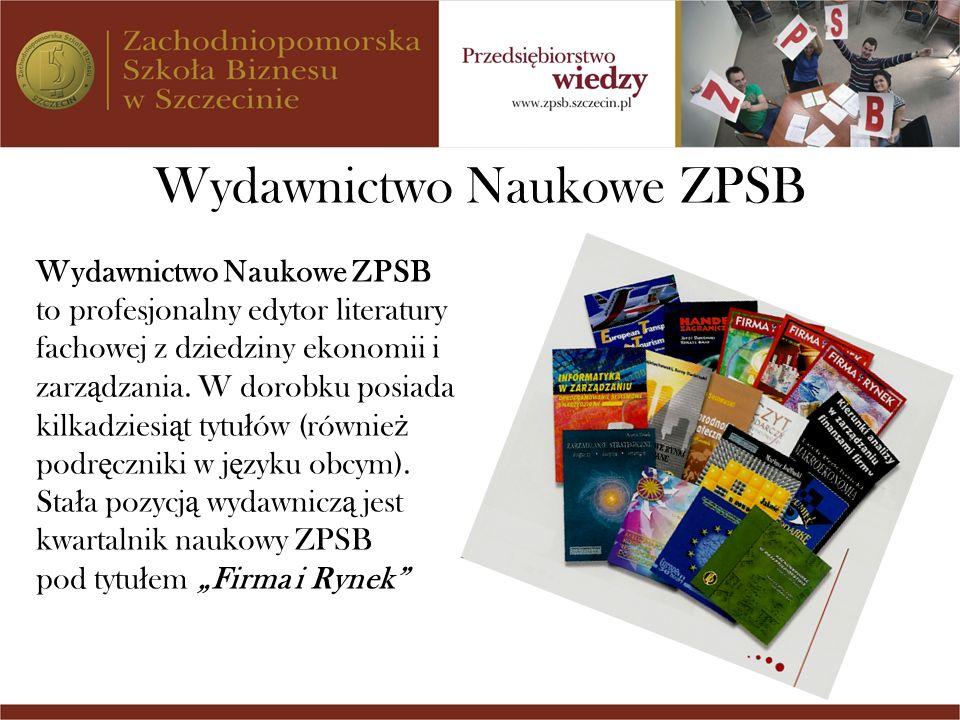 Wydawnictwo Naukowe ZPSB to profesjonalny edytor literatury fachowej z dziedziny ekonomii i zarz ą dzania. W dorobku posiada kilkadziesi ą t tytu ł ów