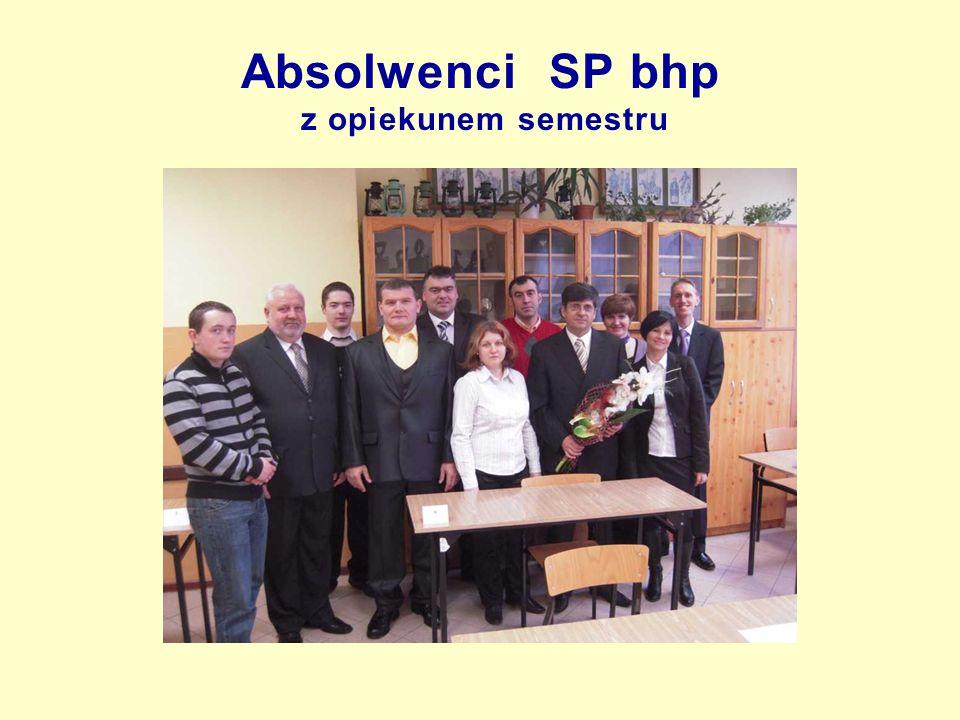 Absolwenci SP bhp z opiekunem semestru
