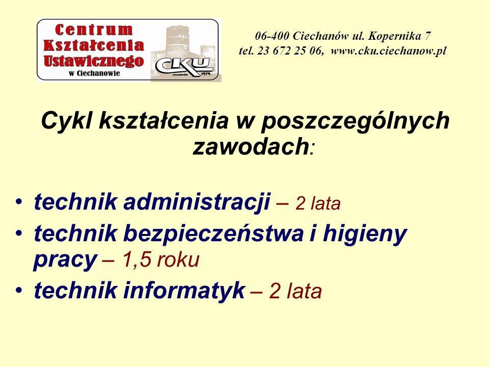 06-400 Ciechanów ul.Kopernika 7 tel.
