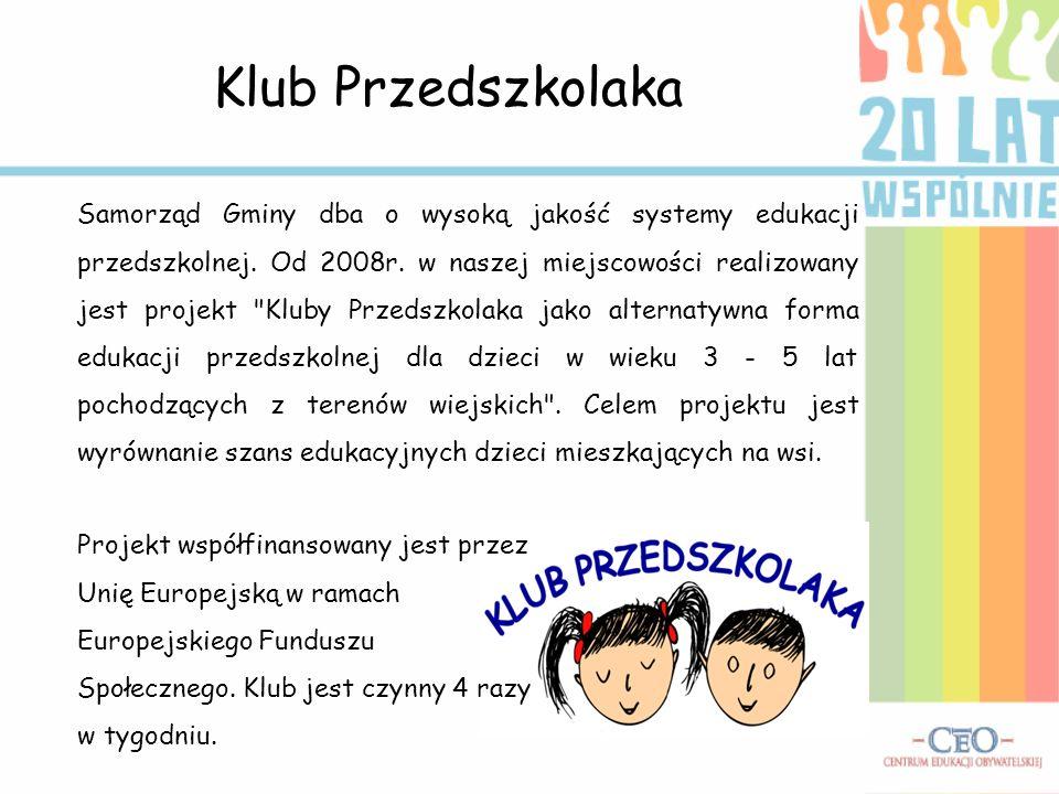 Ważne inwestycje W ostatnich latach sytuacja mieszkańców Zalesia uległa dużej zmianie.