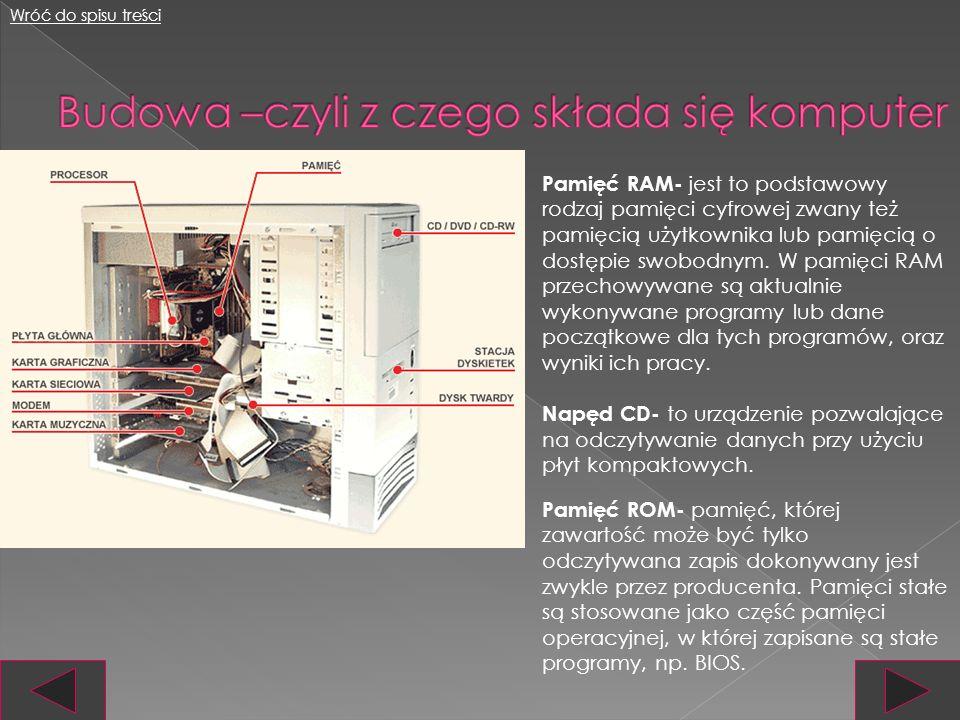 Płyta główna- to podstawowy element komputera, na niej znajduje się procesor i układy niezbędne do jego prawidłowej pracy.