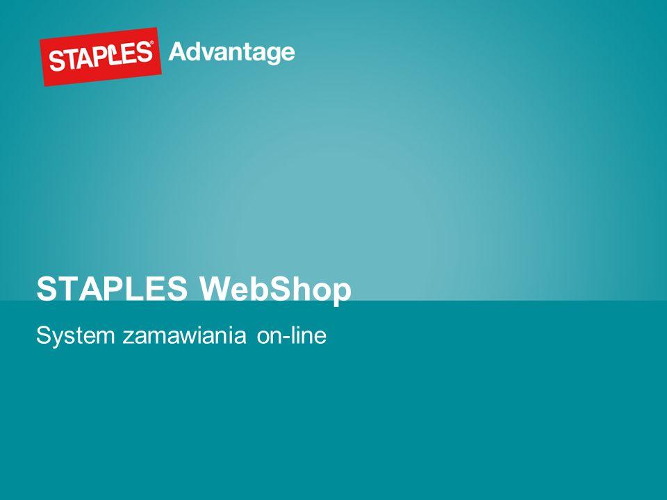 Wprowadzenie Staples WebShop umożliwia Klientom składanie zamówień drogą internetową.