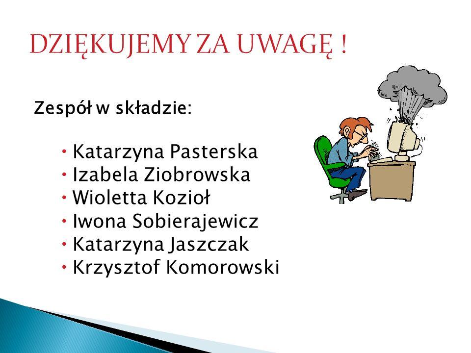 Zespół w składzie: Katarzyna Pasterska Izabela Ziobrowska Wioletta Kozioł Iwona Sobierajewicz Katarzyna Jaszczak Krzysztof Komorowski