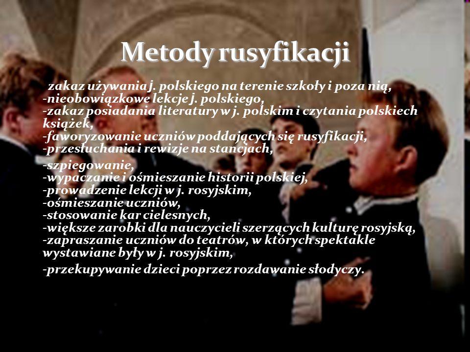 Nauka młodzieży polskiej w szkołach pod zaborami odbywała się w bardzo trudnych warunkach politycznych.