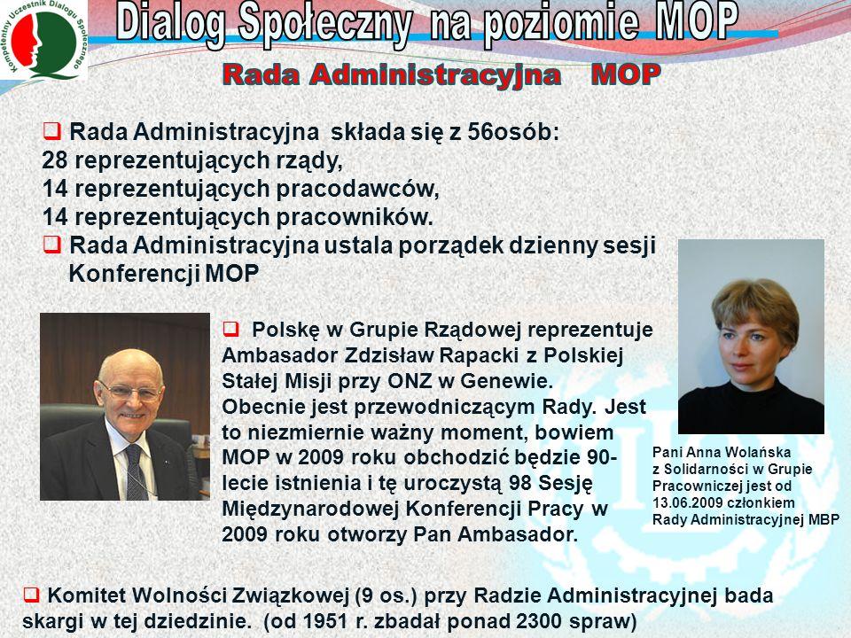 Pani Anna Wolańska z Solidarności w Grupie Pracowniczej jest od 13.06.2009 członkiem Rady Administracyjnej MBP Rada Administracyjna składa się z 56osó
