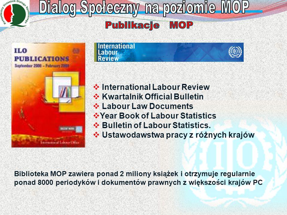 Biblioteka MOP zawiera ponad 2 miliony książek i otrzymuje regularnie ponad 8000 periodyków i dokumentów prawnych z większości krajów PC International