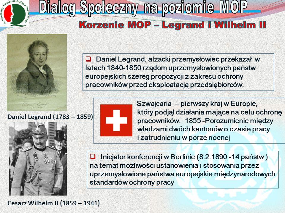 Daniel Legrand (1783 – 1859) Daniel Legrand, alzacki przemysłowiec przekazał w latach 1840-1850 rządom uprzemysłowionych państw europejskich szereg pr