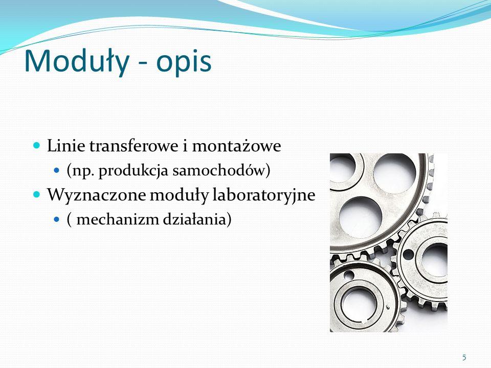 Wykorzystanie technik Modelowanie brył (odzwierciedlenie rzeczywistych modułów) Animacje modułów i efekty produkcji ( tj.