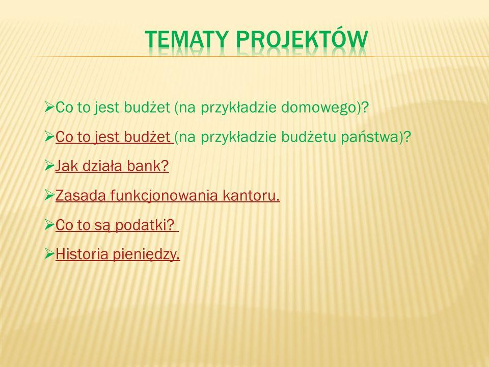 Co to jest budżet (na przykładzie domowego)? Co to jest budżet (na przykładzie budżetu państwa)?Co to jest budżet Jak działa bank? Zasada funkcjonowan