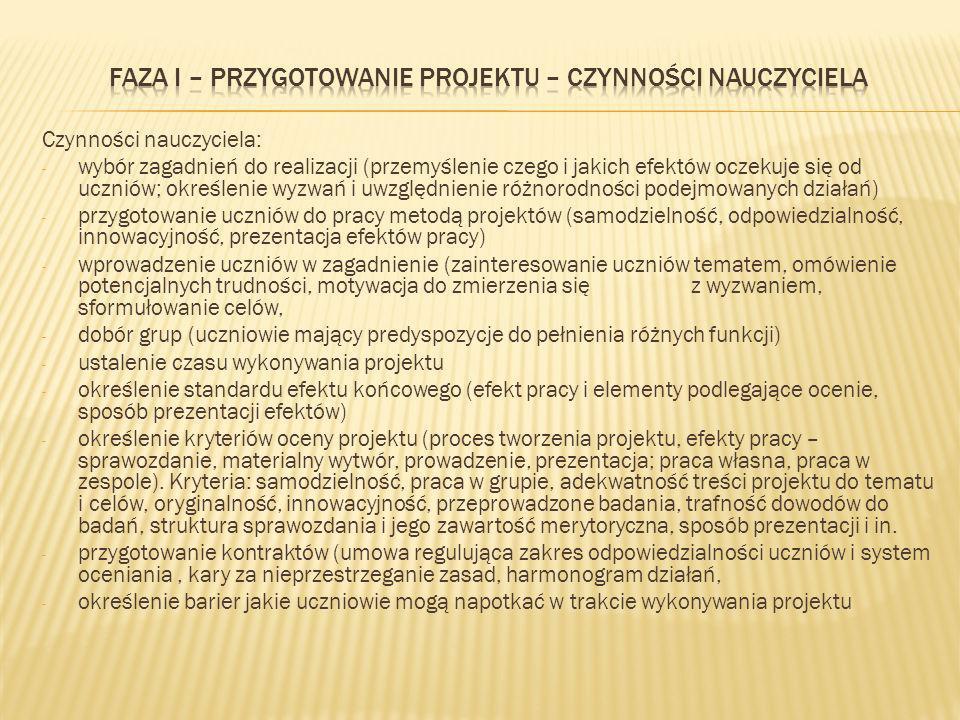 Uczniowie gimnazjum obowiązkowo biorą udział w realizacji projektu edukacyjnego.