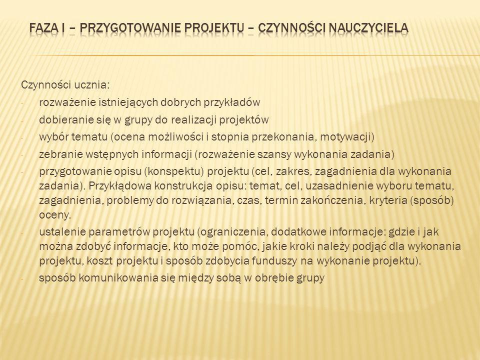 1.W jakim celu wprowadzono obowiązek przygotowywania projektu na poziome gimnazjum.