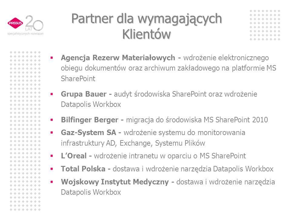 Partner dla wymagających Klientów Agencja Rezerw Materiałowych - wdrożenie elektronicznego obiegu dokumentów oraz archiwum zakładowego na platformie M