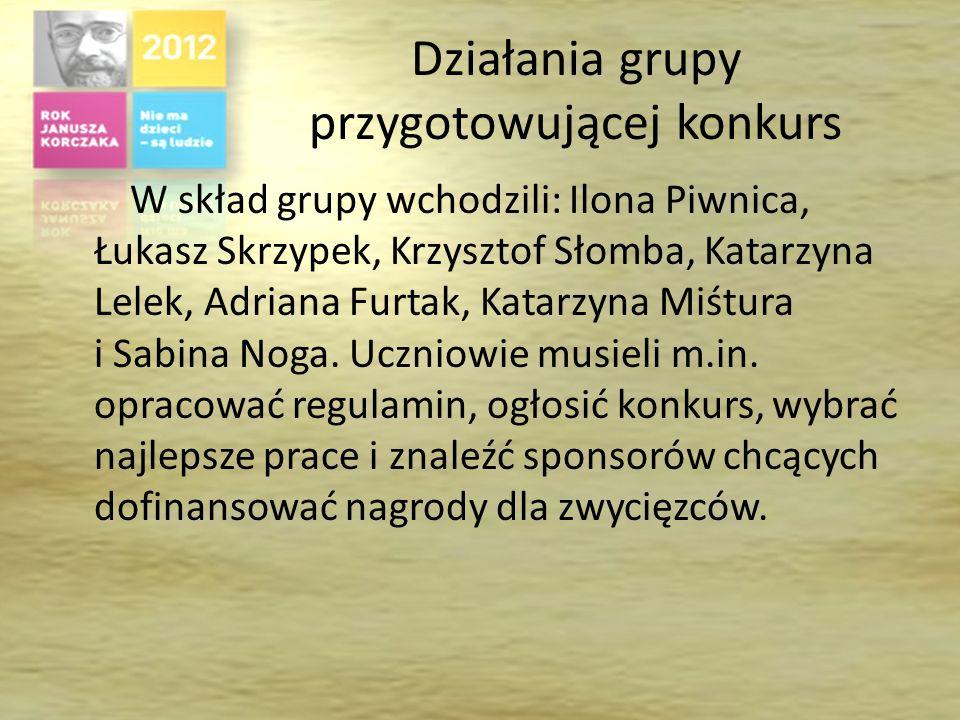 Konkurs plastyczny – informacje ogólne Konkurs został ogłoszony w naszej szkole 26 listopada 2012 roku. Od tej daty uczniowie mieli dokładnie dwa tygo