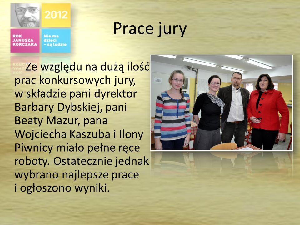 Działania grupy przygotowującej konkurs W skład grupy wchodzili: Ilona Piwnica, Łukasz Skrzypek, Krzysztof Słomba, Katarzyna Lelek, Adriana Furtak, Katarzyna Miśtura i Sabina Noga.