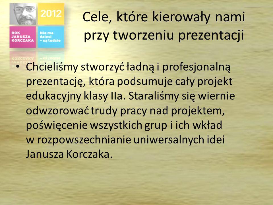 Działania grupy Do wykonania prezentacji podsumowującej zgłosiło się cztery osoby : Paweł Lipiór, Mateusz Bryk, Dominik Dolot i Adam Szot. Wykonali on