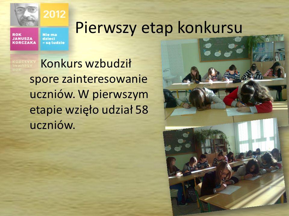 Działania grupy przygotowującej konkurs W skład grupy wchodzili uczniowie: Klaudia Guła, Sylwia Pietrzycka, Justyna Helowicz i Rafał Ćwik.