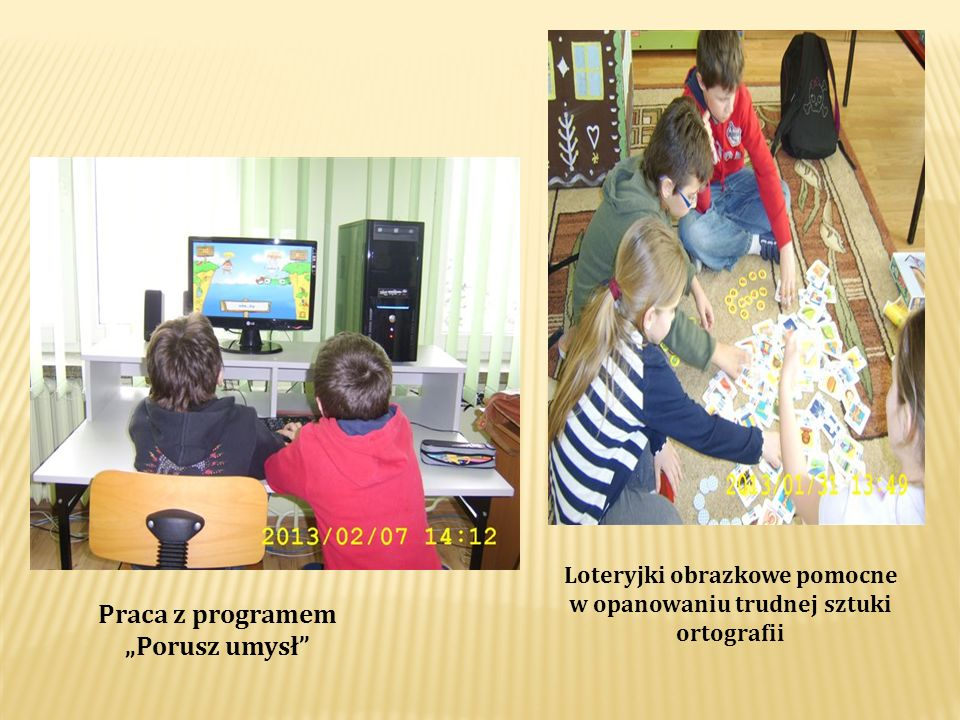Praca z programem Porusz umysł Loteryjki obrazkowe pomocne w opanowaniu trudnej sztuki ortografii