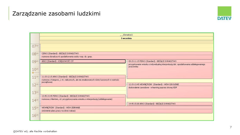 ©DATEV eG; alle Rechte vorbehalten Zarządzanie zasobami ludzkimi 7