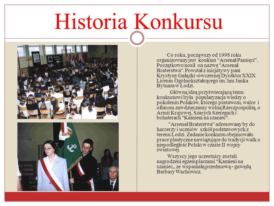 Historia Konkursu Co roku, począwszy od 1998 roku organizowany jest konkurs