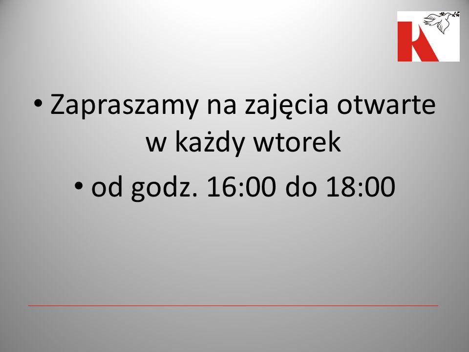 Zapraszamy na zajęcia otwarte w każdy wtorek od godz. 16:00 do 18:00