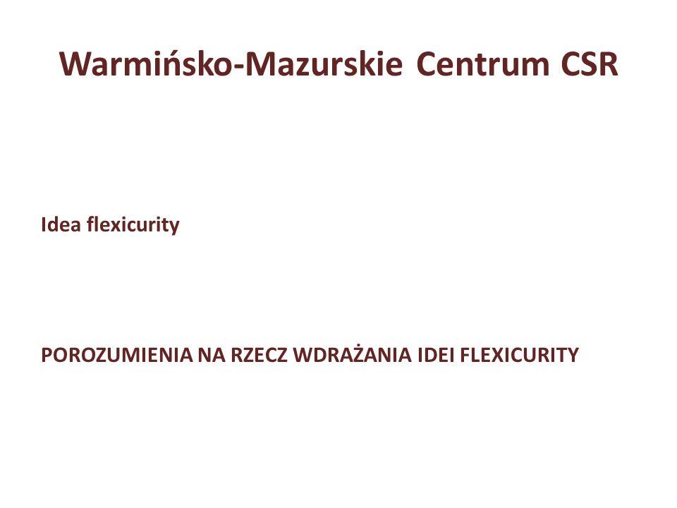 Warmińsko-Mazurskie Centrum CSR Idea flexicurity POROZUMIENIA NA RZECZ WDRAŻANIA IDEI FLEXICURITY