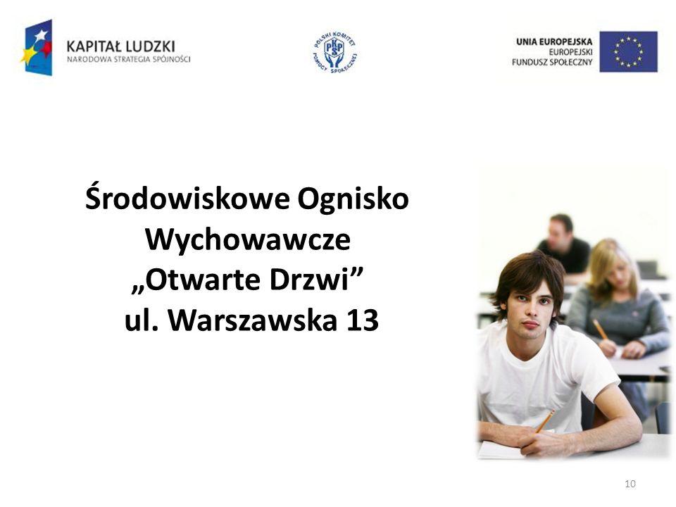 10 Środowiskowe Ognisko Wychowawcze Otwarte Drzwi ul. Warszawska 13