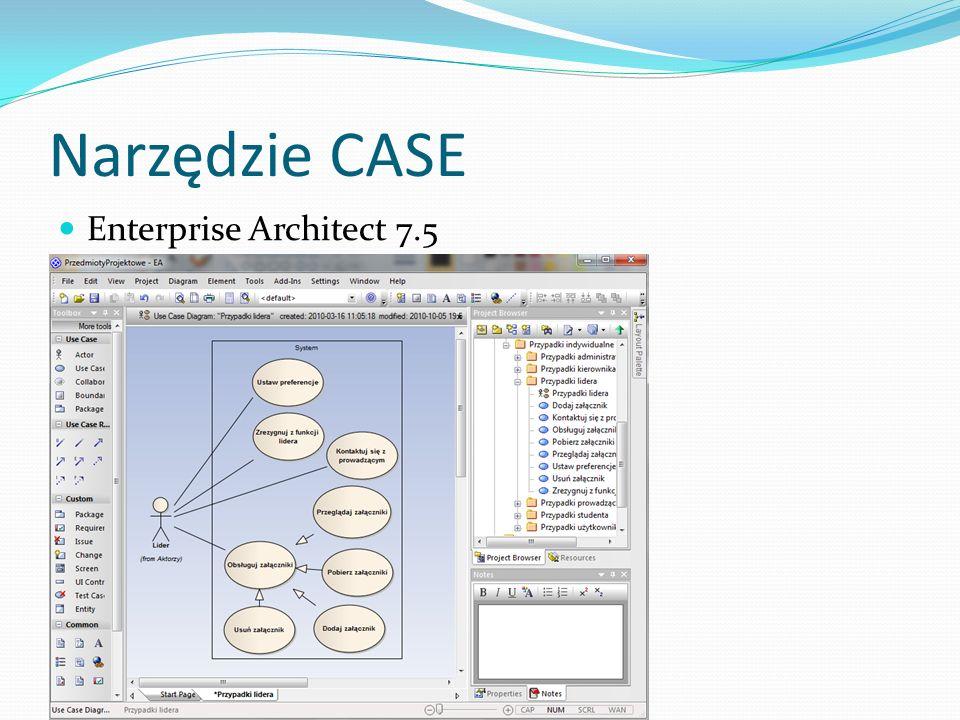 Narzędzie CASE Enterprise Architect 7.5